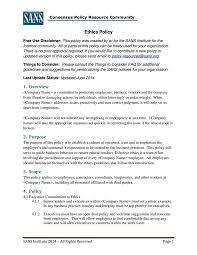 open door policy document. 7 Business Code Of Ethics Policy Templates Free Premium Open Door Document