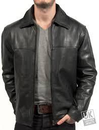men s black cow hide leather jacket classic harrington superior