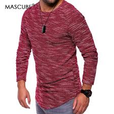 New Clothes Design 2019 Man Us 11 93 23 Off Mascube New Design Fashion Mens T Shirt 2019 Summer Long Sleeve T Shirt Men Brand Clothes Slim Fit Tshirt Men Clothes In T Shirts