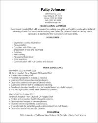 Professional Hospital Chef Templates To Showcase Your Talent Enchanting Resume For Hospital Job