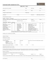 employee health assessment form employment health assessment employee health assessment form employment health assessment form