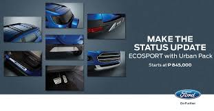 new car release in philippinesLimited edition Urban Pack for Ford EcoSport in Philippines