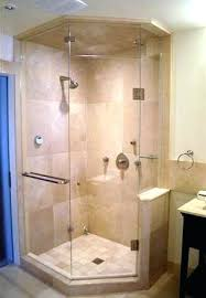 angled shower doors custom made the angle enclosure fixed panels are mitred to ensure minimal splash angled shower doors