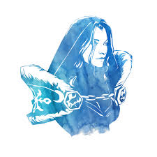 crystal maiden dota 2 water color heroes pinterest character