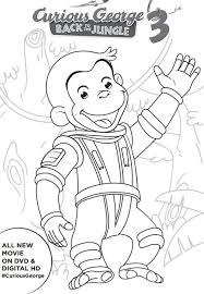 curious george coloring page birthday party pbs free curious george 3 printable activities curiousgeorge