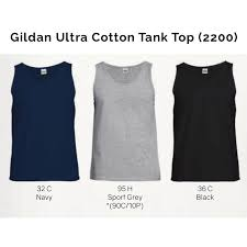 Gildan Ultra Cotton Tank Size Chart Gildan Ultra Cotton Tank Top 2200