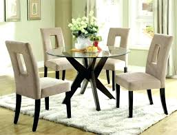 glass dining table set round for 4 dimension black stowaway chairs