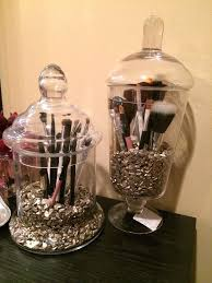 brush holder beads. makeup brushes storage beads box dust free brush storagecute glass holder