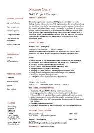 Project Manager Job Description Sap Project Manager Resume Sample Job Description Career