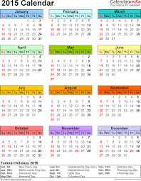 Calendar Template Printable 2015 Template 13 2015 Calendar For Word 1 Page Portrait Orientation