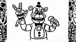 Como Dibujar A Funtime Freddy How To Draw Funtime Freddy Five