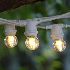 100 Light Warm White C9 String Set 25 Ft White Commercial C9 String Light Led G30 Warm White Bulbs