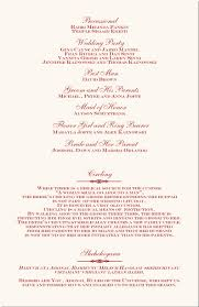wedding party program templates free printable wedding programs templates ceremony