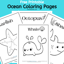 Free, printable coloring book pages, connect the dot pages and color by numbers pages for kids. Free Printable Ocean And Sea Animal Coloring Pages For Kids