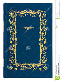blue with gold pattern vine book cover