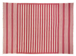 red white striped dhurrie 8 9 x 12