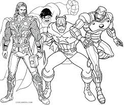 Super Heroes Coloring Pages Marvel Superhero Pdf For Adults