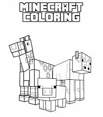 minecraft funny character free coloring page minecraft animal coloring pages