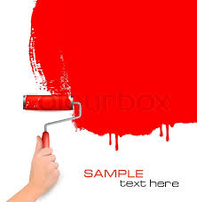 paint roller background. Simple Paint Hand With Red Roller Painting The White Wall Background  Stock Photo  Colourbox Intended Paint Roller I