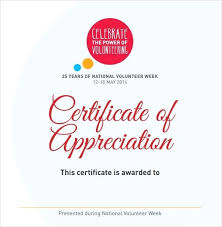 Volunteer Certificate Printable Certificate Of Appreciation Volunteer Service Award