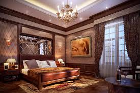 Romantic Bedroom Paint Colors With Luxury Interior And High Class Furniture  To Make Beautiful Layout Using Antique Crystal Chandeliers Also Wood  Bedside ...