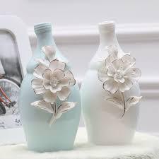 White Ceramic Decorative Accessories Unique Modern Minimalist Style Desktop Ceramic Flower Vase Flower Table
