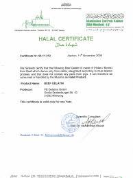 Halal Cert Cover Letter P Capsules