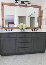 how to refinish bathroom cabinets diy