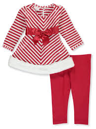 Bonnie Jean Plus Size Chart Bonnie Jean Baby Girls Sequined Candy Cane 2 Piece Leggings Set Outfit
