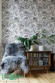 Zwarte Witte Tuin Rose Patroon Behang Rose Behang Huurders Etsy