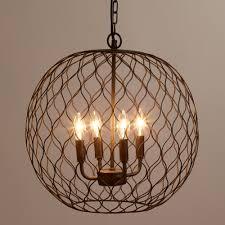 dark bronze globe farmhouse chandelier lighting