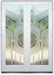 glass front doors contemporary modern decorative etched glass sans soucie