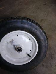 My wheelbarrow tire needs replacing, and has many numbers, but the most important is 4.80 and then another 8 comes a little bit further away. Biggest Tires To Replace 4 80 4 00 8 Size Wheelbarrow Tires Etrailer Com