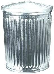 outdoor trash can with lid decorative metal trash can small size of home depot stainless steel
