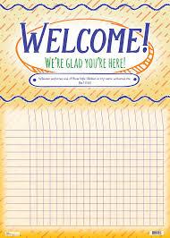 Attendance Chart Welcome Kids Attendance Chart