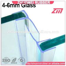 glass door water seal shower for 10mm plastic strip weather sealing magnetic hot clear bottom
