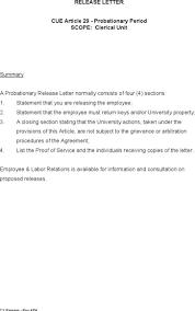 Letter Release Letter Sample