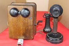 candlestick telephone kellogg 1908 original candlestick telephone oak hand cranked ringer box