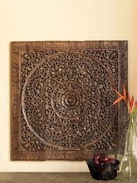 balinese antique wood carving wall art
