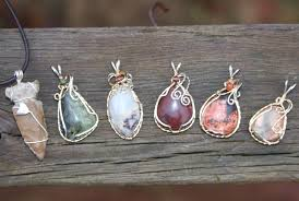 wire wrapped cabochon pendants by cindy weingate