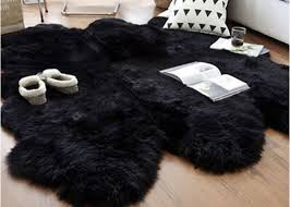 australian sheepskin rug sheepskin collection genuine sheepskin pelt black premium runner 4 x 6