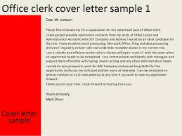 Gallery Of Office Clerk Cover Letter Resume For Post Office Job