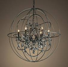 chandeliers restoration hardware orb chandelier home design decorating ideas twin smoke crystal matte natural look