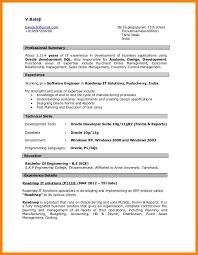 6 Oracle Developer Sample Resume Address Example