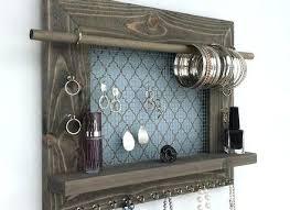 wood jewelry organizer wall hanging display holder tree