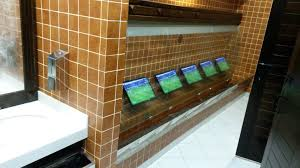 See Thru Tv This Pub Has A See Through Urinal With Tv Screeens To Watch The