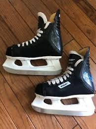Bauer Lil Angel Skates Size Chart Details About Bauer Ice Skates Size 2 Black With White Hockey