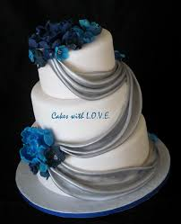 Pictures 14 Of 15 Light Blue And Silver Wedding Cakes Photo
