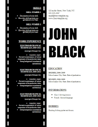 Film Picture Template Film Resume Template Bluevision Us