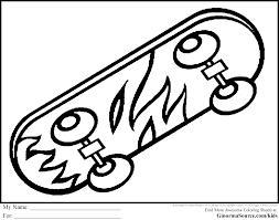 emerging skateboard coloring pages